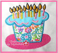 BIRTHDAY CAKE  MACHINE EMBROIDERY DESIGNS