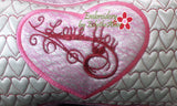 I LOVE YOU VALENTINE HEART PILLOW In The Hoop Pillow.  Instant Download - Embroidery by EdytheAnne - 4