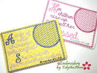 The  PROVERBS 31 WOMAN Mug Mats/Mug Rug In The Hoop Machine Embroidery