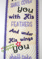 PSALM 91 IN THE HOOP BOOKMARK