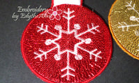 SET OF 3 IN THE HOOP CHRISTMAS ORNAMENTS -Instant Download - Embroidery by EdytheAnne - 4