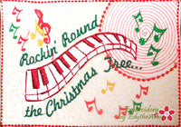 ROCKIN ROUND THE CHRISTMAS TREE Mug Mats/Mug Rugs.In The Hoop -Digital Download