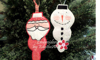 SET OF 3 IN THE HOOP CHRISTMAS ORNAMENTS -Instant Download - Embroidery by EdytheAnne - 5