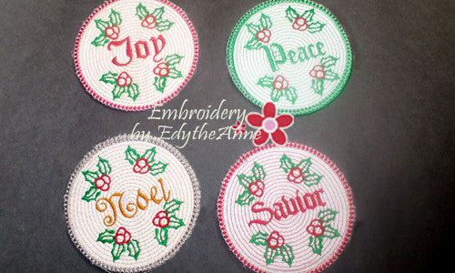 Words of christmas coasters instant download