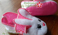 Infant BUNNY SLIPPER. In The Hoop Machine Embroidery. 3 sizes included.  - INSTANT DOWNLOAD - Embroidery by EdytheAnne - 2