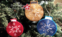 SET OF 3 IN THE HOOP CHRISTMAS ORNAMENTS -Instant Download - Embroidery by EdytheAnne - 2