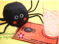 SPIDER BALL & MATCHING HALLOWEEN MUG MAT