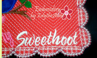 Be My SweetHoot Valentine Mug Mat/Mug Rug 2 Versions. 2 Sizes - INSTANT DOWNOAD - Embroidery by EdytheAnne - 8