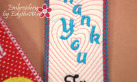 Bookmarks for saying Thank You! - INSTANT DOWNLOAD - Embroidery by EdytheAnne - 3