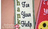 Bookmarks for saying Thank You! - INSTANT DOWNLOAD - Embroidery by EdytheAnne - 2