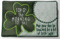 Set of Two ST. PATRICKS DAY In The Hoop Machine Embroidered Mug MatMug Rug.  INSTANT DOWNLOAD - Embroidery by EdytheAnne - 3
