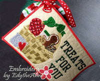 TREATS FOR YOU In The Hoop CHRISTMAS GIFT TAGS Embroidered Design - Instant Download - Embroidery by EdytheAnne - 3