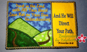 TRUST IN THE LORD Mug Mat/Mug Rug - 2 Sizes Included - INSTANT DOWNLOAD - Embroidery by EdytheAnne - 1