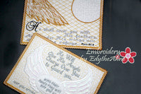 PSALM 91 SET OF 2 God's Prayer of Protection IN THE HOOP Faith Based Mug Mat/Mug Rug - DIGITAL DOWNLOAD