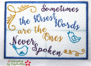 WISEST WORDS  In The Hoop Mug Mat - Digital Download