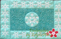 Winter Place Mat In The Hoop - INSTANT DOWNLOAD - Embroidery by EdytheAnne - 2