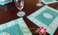 Winter Place Mat In The Hoop - INSTANT DOWNLOAD - Embroidery by EdytheAnne - 3