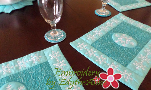 winter place mat in the hoop - 20  off intro pricing