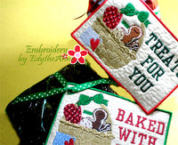 TREATS FOR YOU In The Hoop CHRISTMAS GIFT TAGS Embroidered Design - Instant Download - Embroidery by EdytheAnne - 1