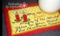 LIGHT OF THE WORLD MUG MAT/MUG RUG In The Hoop Embroidery Design - Embroidery by EdytheAnne - 2