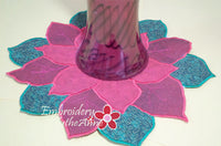 POINSETTIA CENTERPIECE or TRIVET  In The Hoop Project -INSTANT DOWNLOAD - Embroidery by EdytheAnne - 2
