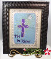 He is Risen Wall Art Machine Embroidery