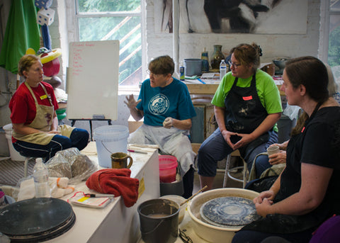 Summer 2019-Playing with Light Workshop with potter, Nan Rothwell