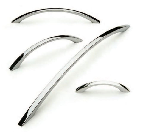 Cordelia Modern Bow Handle in Polished Chrome