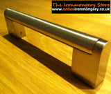 Bar Handle in a brushed steel finish