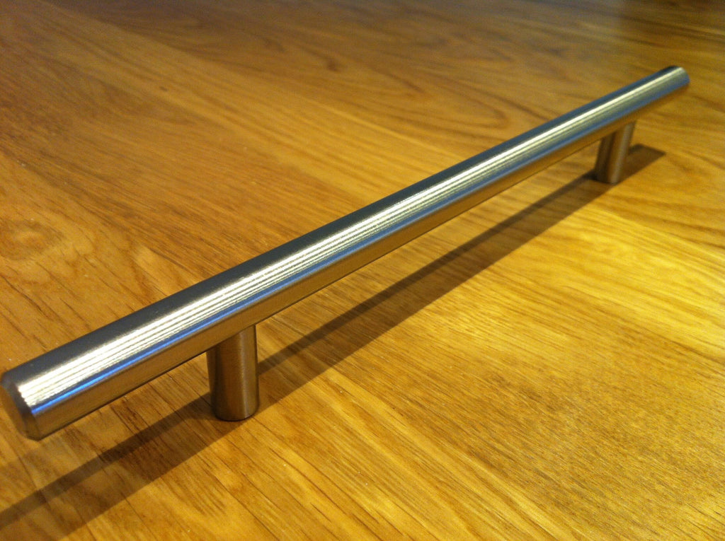 T Bar Handle Brushed Steel Finish