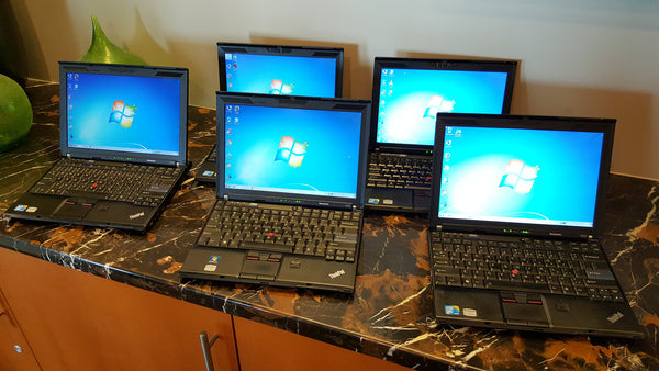 (Bulk Package) 5 units x 12 inch Lenovo X201 i7 2.67ghz, 4 gig ram, 128gb SSD (Little Speedy Puppy)
