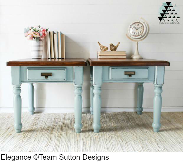 Side tables painted with Country Chic Paint