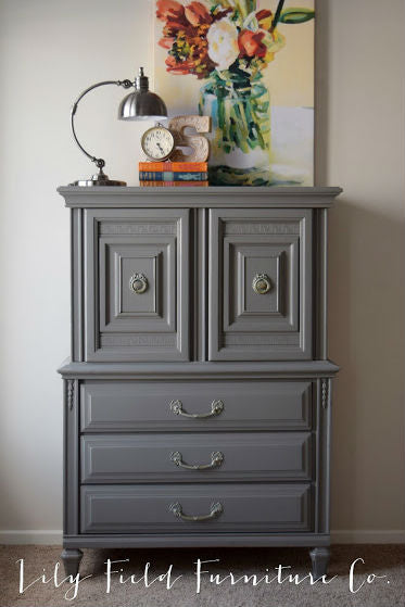 Warm Grey Wardrobe Tallboy Dresser Painted With Eco Friendly DIY Furniture  Paint By Country Chic