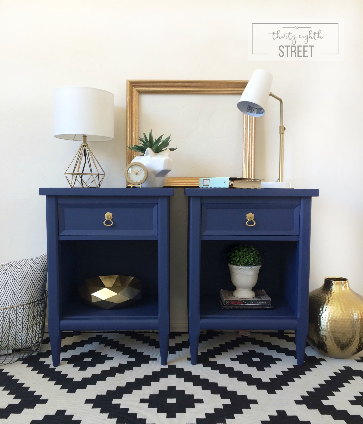 Colors country chic paint for Navy blue and gold bathroom accessories