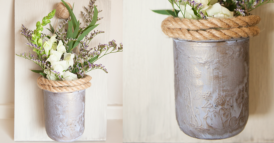 diy craft idea painted hanging mason jar vase