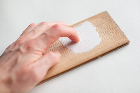furniture paint surface prep - scratch test - paint adhesion test