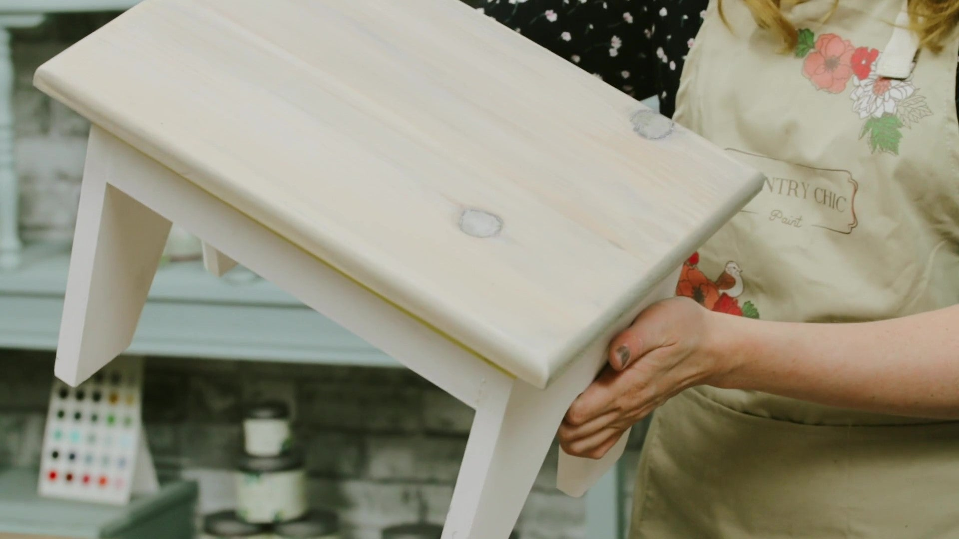how to use Country Chic Paint furniture glaze as stain on DIY furniture painting projects - step by step tutorial