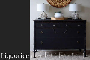 Liquorice Chalk Style All-In-One Paint from Country Chic Paint - DIY eco friendly home decor paint