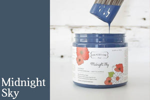 Midnight Sky Chalk Style All-In-One Paint from Country Chic Paint - DIY eco friendly home decor paint