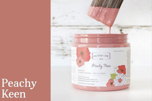 Peachy Keen Chalk Style All-In-One Paint from Country Chic Paint - DIY eco friendly home decor paint