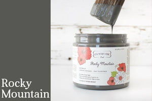 Rocky Mountain Chalk Style All-In-One Paint from Country Chic Paint - DIY eco friendly home decor paint