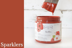 Sparklers Chalk Style All-In-One Paint from Country Chic Paint - DIY eco friendly home decor paint