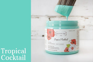 Tropical Cocktail Chalk Style All-In-One Paint from Country Chic Paint - DIY eco friendly home decor paint