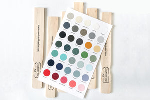 Hand Painted Color Card from the Country Chic Paint Color line