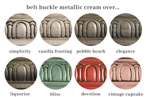 Metallic Cream | Belt Buckle