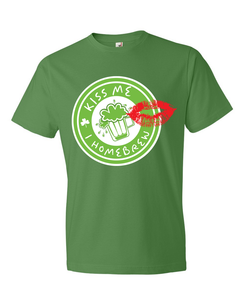 Green Kiss Me I Homebrew T-Shirt