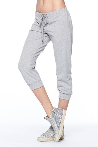 Cropped Lace Up Track Pant Cropped Lace Up Track Pant by David Lerner