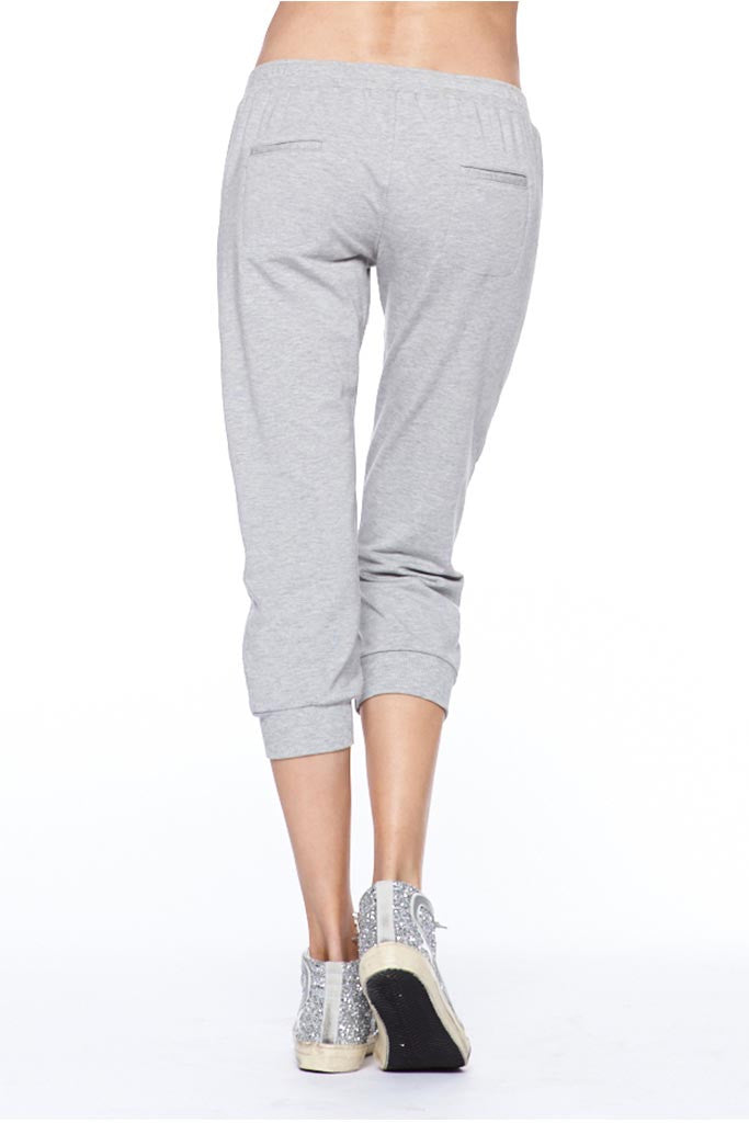 Cropped Lace-Up Track Pant