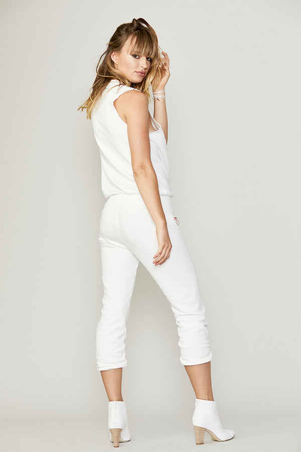 Raw Edge French Terry Jumpsuit