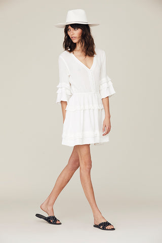 Natalie Ruffled Bell Sleeve Dress